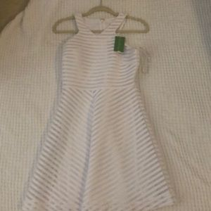Lily Pulitzer White crochet strip knit dress